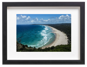 james-ratliff-framed-prints-byron-bay-black-frame