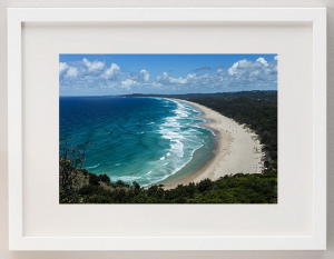 james-ratliff-framed-prints-byron-bay-white-frame
